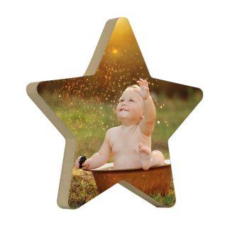 Taco de madera estrella