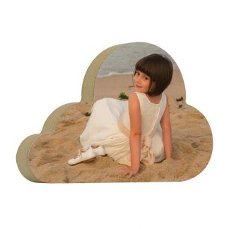 Taco de madera nube